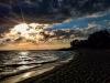 Krásny západ slnka pri Baltskom mori