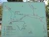 Mapa turistické chodníky v okoli Gradacu