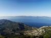 Poloostrov Pelješac pohľad z Sv. Ilija